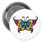 Pansexual Butterfly Pinback Buttons