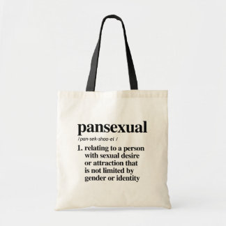 Pansexual Definition - Defined LGBTQ Terms - Tote Bag