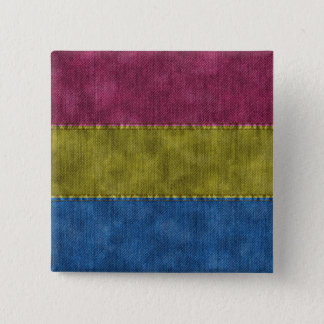Pansexual Denim Flag Button