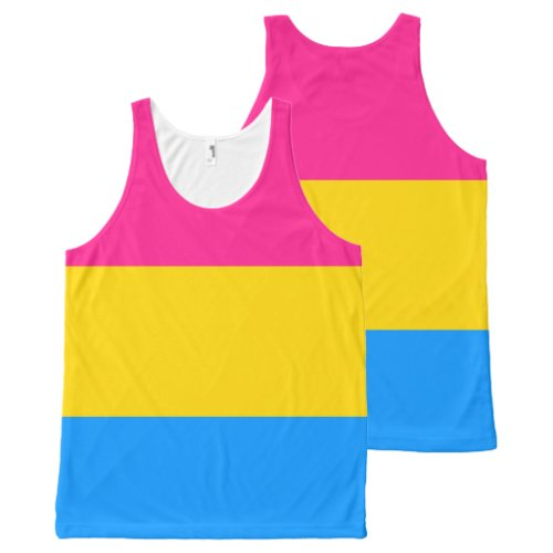 Pansexual flag All_Over_Print tank top