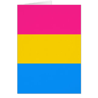 Pansexual flag card