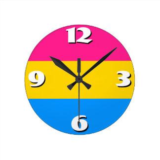 Pansexual flag clock