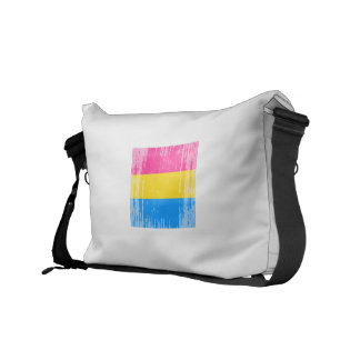 PANSEXUAL FLAG DISTRESSED COURIER BAG