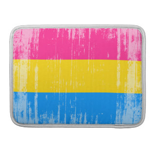 PANSEXUAL FLAG DISTRESSED -.png Sleeve For MacBooks