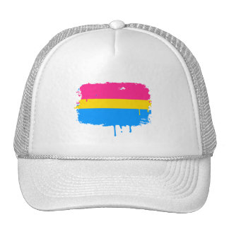 PANSEXUAL FLAG DRIPPING HATS