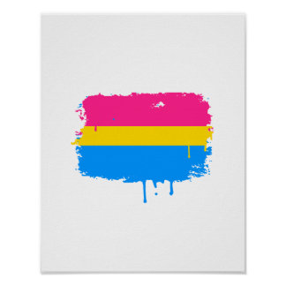 PANSEXUAL FLAG DRIPPING POSTER
