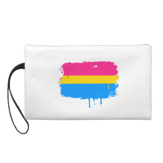PANSEXUAL FLAG DRIPPING WRISTLET PURSE
