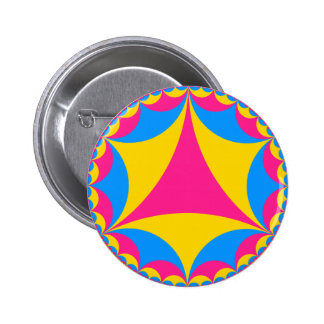 Pansexual flag fractal pins