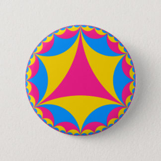 Pansexual flag fractal pinback button