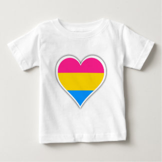 Pansexual flag heart baby T-Shirt