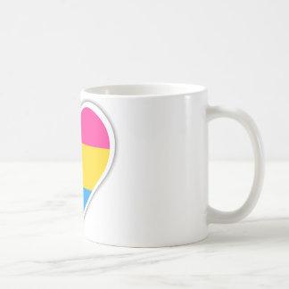 Pansexual flag heart coffee mug