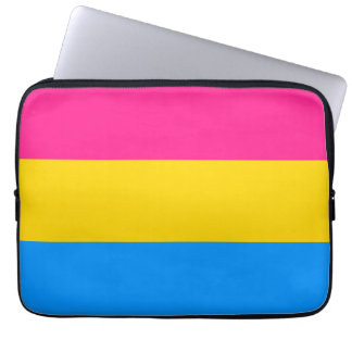 Pansexual flag laptop computer sleeve