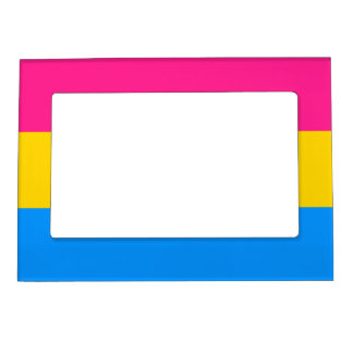 Pansexual flag magnetic frame