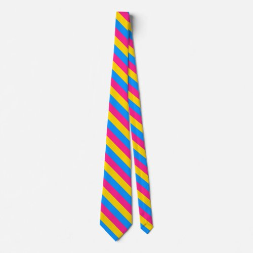 Pansexual flag neck tie