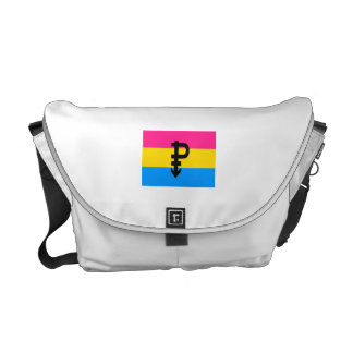 PANSEXUAL FLAG ORIGINAL COURIER BAGS