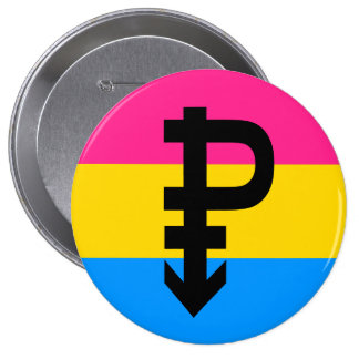 Pansexual Flag Pinback Button