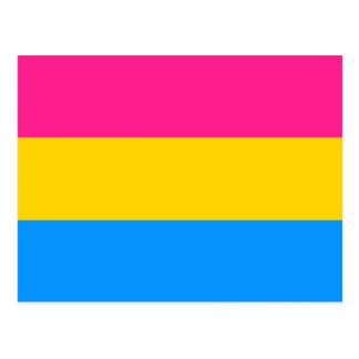 Pansexual flag postcard