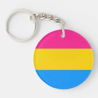 Pansexual flag Single-Sided round acrylic keychain