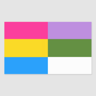 Pansexual flag sticker