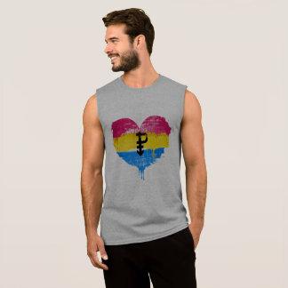 PANSEXUAL HEART - PANSEXUAL LOVE - SYMBOL - SLEEVELESS SHIRT
