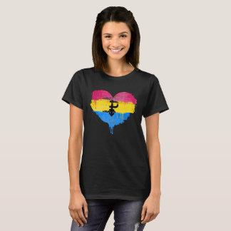 PANSEXUAL HEART - PANSEXUAL LOVE - SYMBOL - T-Shirt