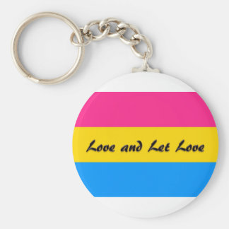 Pansexual:  Love and Let Love Basic Round Button Keychain