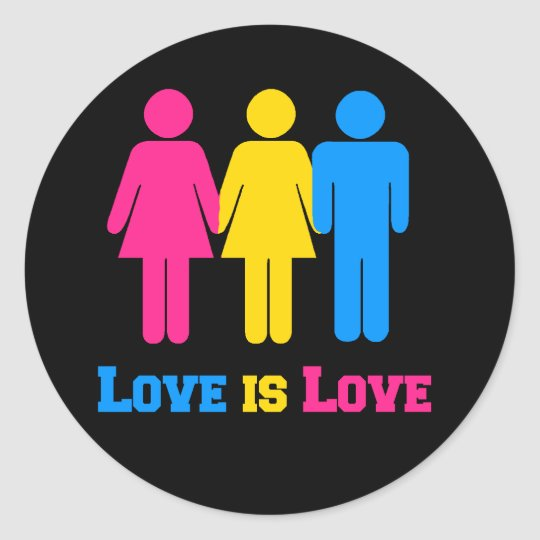 Pansexual Love Classic Round Sticker