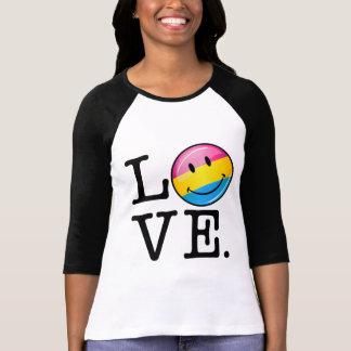 Pansexual Love Smiling Flag Tshirt