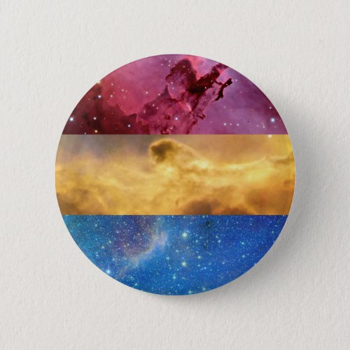 Pansexual nebula flag pin