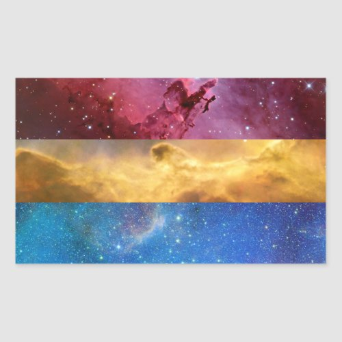Pansexual nebula flag stickers