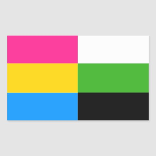 Pansexual/neutrois flag stickers