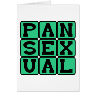 Pansexual, Omnisexual Card