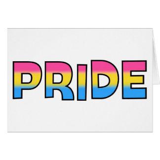 Pansexual/Omnisexual Pride Card