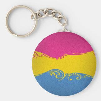 Pansexual Ornamental Flag Basic Round Button Keychain