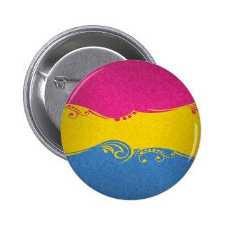 Pansexual Ornamental Flag Pinback Button