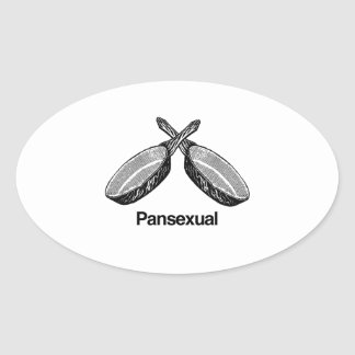 Pansexual - oval sticker