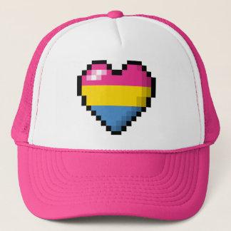 Pansexual Pixel Heart Trucker Hat