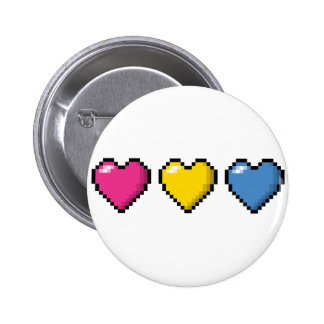 Pansexual Pixel Hearts Button