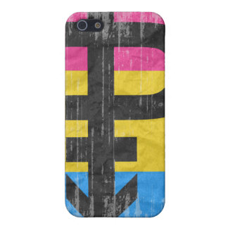 PANSEXUAL PRIDE DISTRESSED DESIGN iPhone SE/5/5s COVER