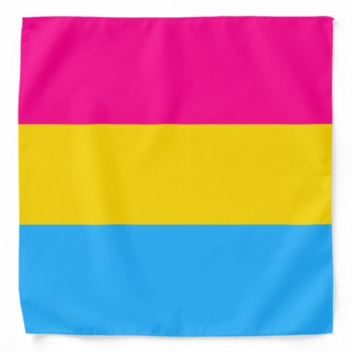 """PANSEXUAL PRIDE FLAG"" BANDANA"