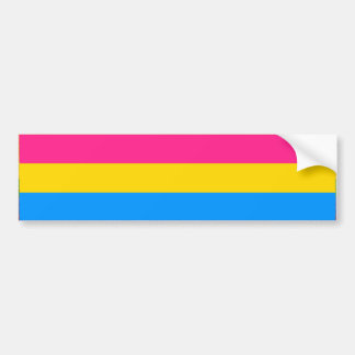 PANSEXUAL PRIDE FLAG BAR BUMPER STICKER