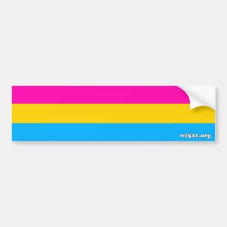 Pansexual pride flag bumper sticker