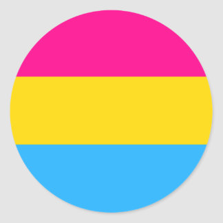 """PANSEXUAL PRIDE FLAG"" CLASSIC ROUND STICKER"