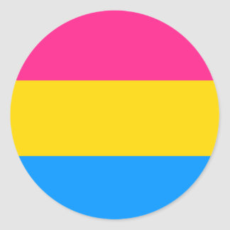 Pansexual Pride Flag Classic Round Sticker