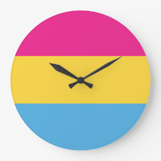 Pansexual | Pride Flag Design | Stripes | Large Clock