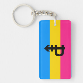 Pansexual Pride Flag Double-Sided Rectangular Acrylic Keychain