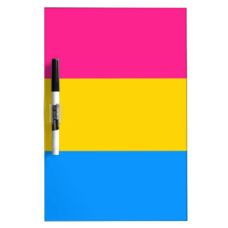 Pansexual pride flag dry erase whiteboards
