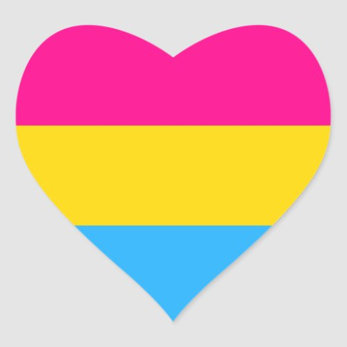 PANSEXUAL PRIDE FLAG HEART STICKER