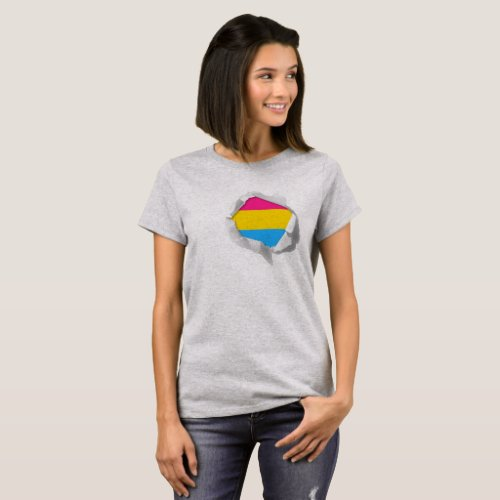 Pansexual Pride Flag LGBT True Colors Reveal T_Shirt