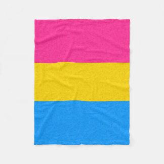 Pansexual Pride Flag Fleece Blanket